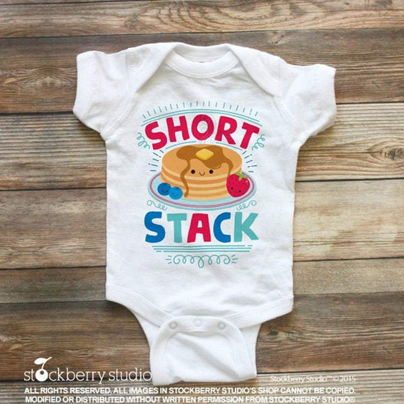 Short Stack Baby Outfit - Pancakes Shirt - Stockberry Studio