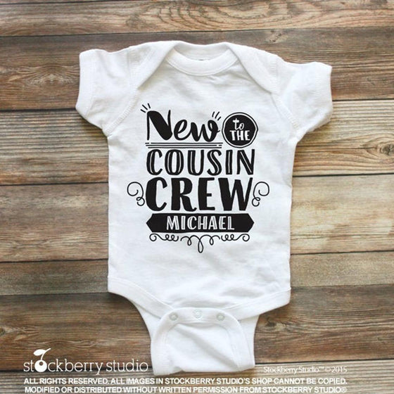 New to the Cousin Crew Announcement Shirt - Stockberry Studio