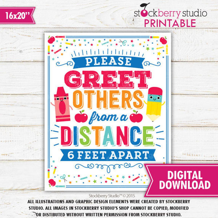Classroom Social Distance Sign