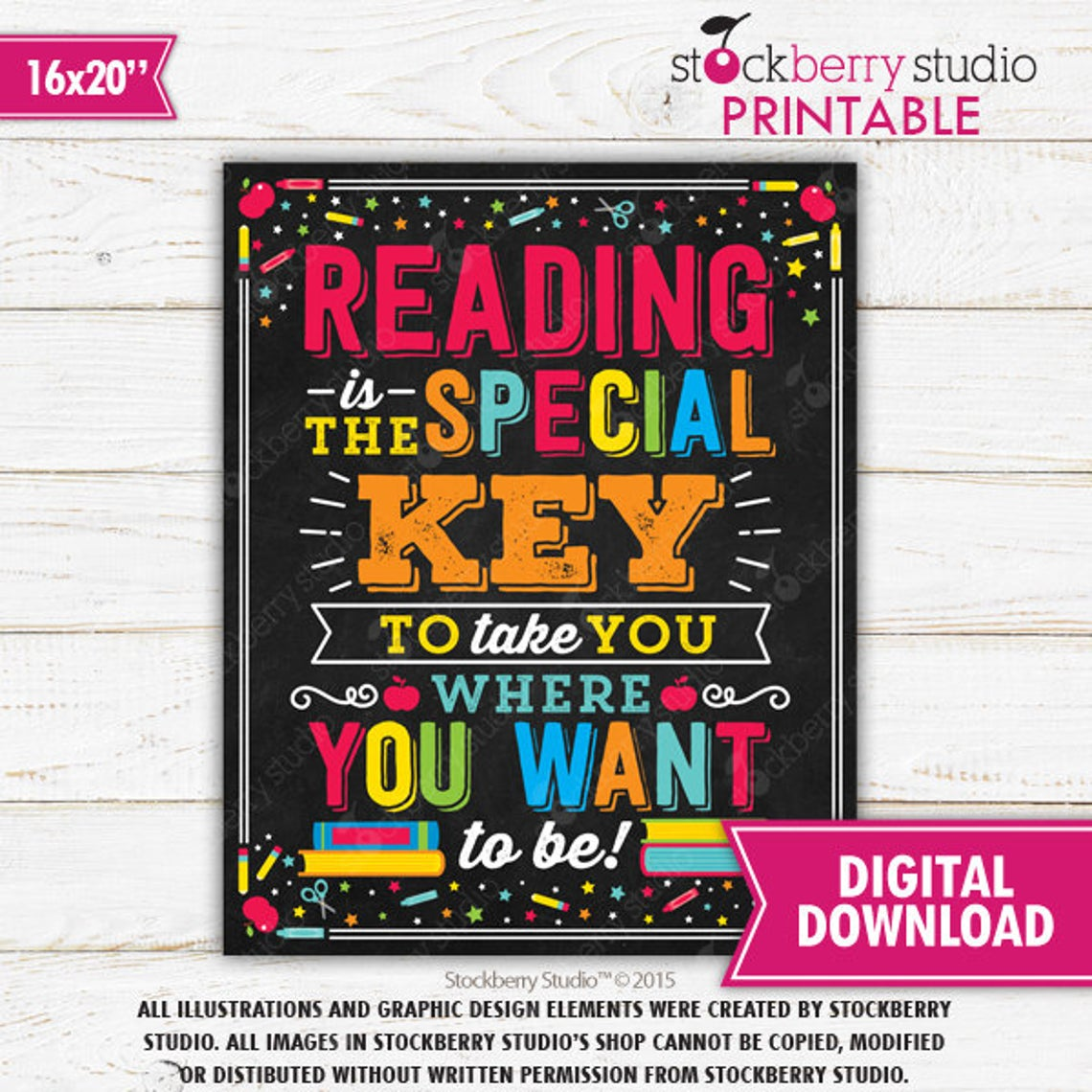 Reading is Special Classroom Sign