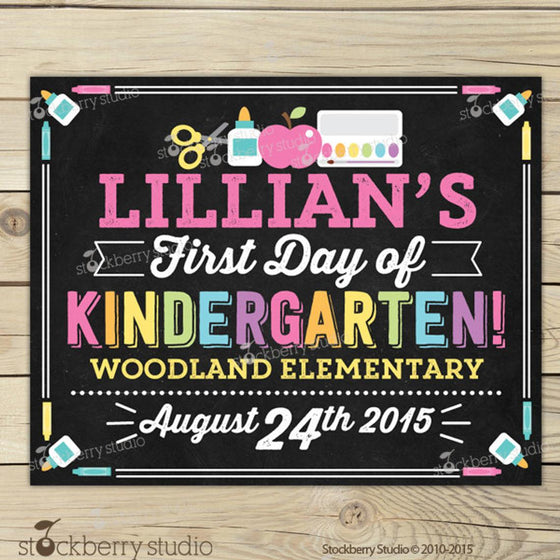 First Day of School Sign Printable - 1st Day of School Sign