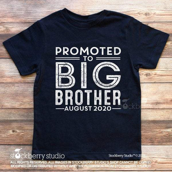 Promoted to Big Brother Baby Pregnancy Announcement Shirt - Stockberry Studio