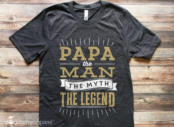 Fathers Day Gift - Papa The Man The Myth The Legend Shirt - Stockberry Studio
