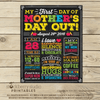 First Day of Mothers Day Out Printable Sign