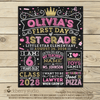 Ballet First Day of School Sign Printable Personalized - Stockberry Studio