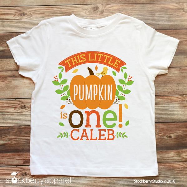 Little Pumpkin Birthday Shirt Personalized