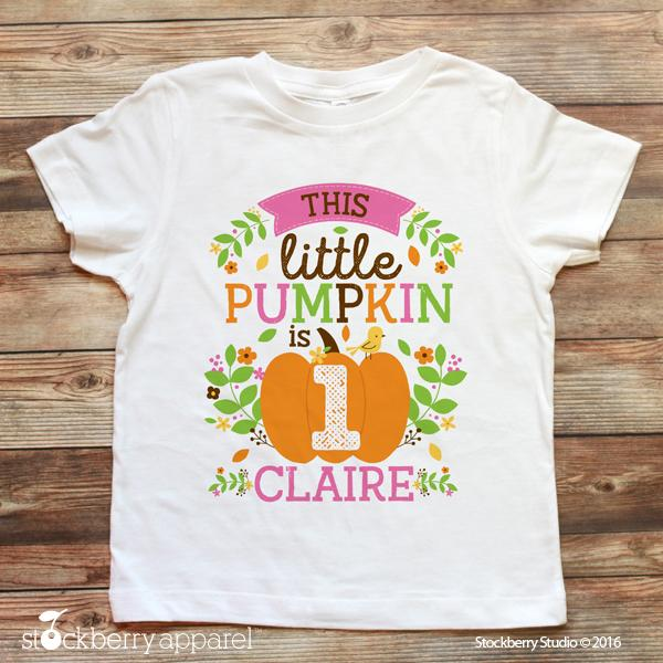 Fall Little Pumpkin Birthday Shirt - Stockberry Studio