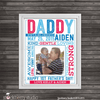 Father's Day Gift Wall from Kids - Personalized - Stockberry Studio