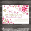 Winter Onederland Birthday Party Invitation - Stockberry Studio