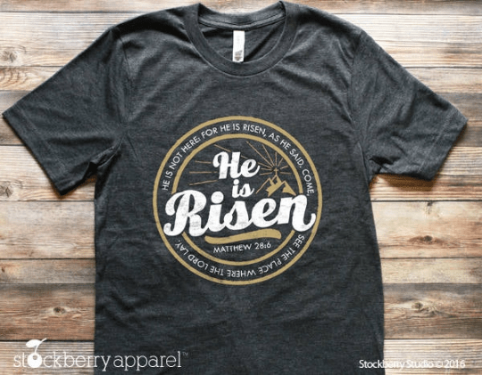 Easter He is Risen Easter Shirt - Adult - Stockberry Studio