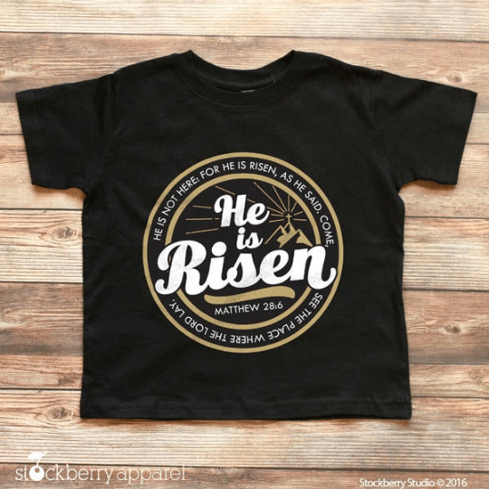 He is Risen Easter Shirt - Youth - Stockberry Studio
