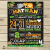 Safari Chalkboard Poster Printable - Jungle First Birthday Chalkboard Sign