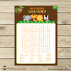 Safari Animals Jungle Baby Shower Word Search Game Printable Instant Download - Stockberry Studio