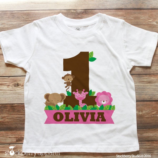 Safari Jungle Birthday T-Shirt - Stockberry Studio