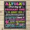 First Day of School Sign Back to School Printable 1st Day of School Sign - Stockberry Studio