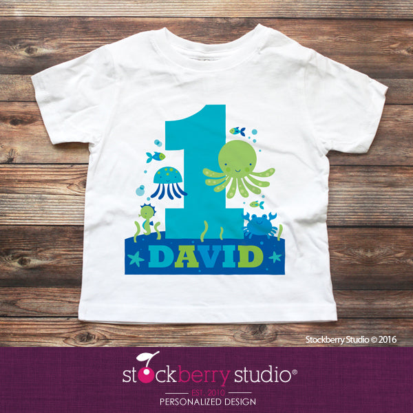 Under the Sea First Birthday Shirt