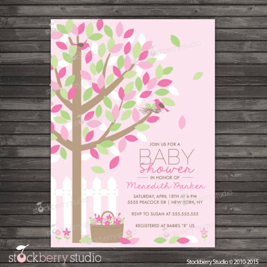 Spring Baby Shower Invitation