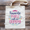 Grandma Tote Bag - My Favorite People Call Me Grandma with Grandkids Names - Stockberry Studio