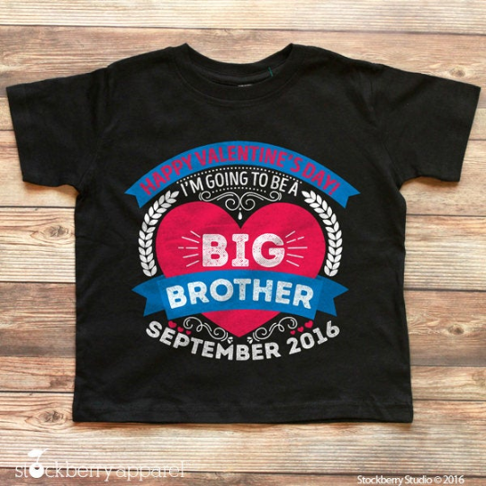 Valentine's Day Big Brother Announcement Shirt