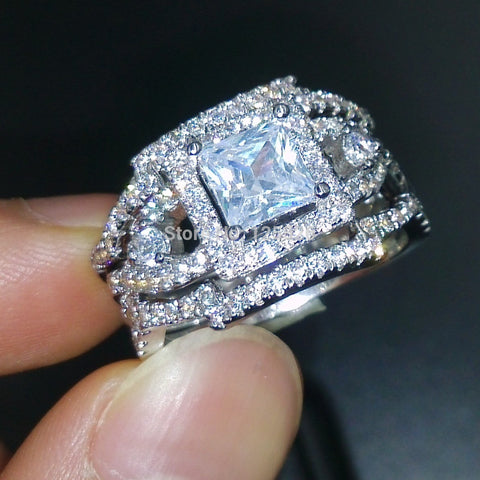 Dazzling engagement Topaz Simulated Diamond