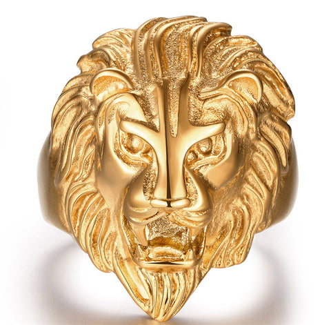 Male Lion Head Yellow Gold Filled