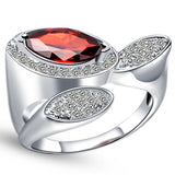Silver Plated Cubic Zirconia Ring