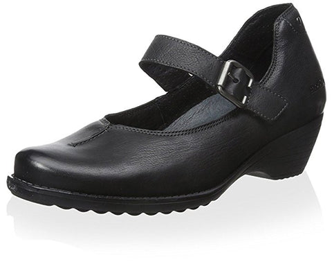 Mephisto Women's Yvette Black Texas 7900 mary-jane Velcro strap dress heel front view