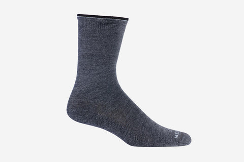 Mephisto Women's Charcoal Beverly Sock merino wool profile view