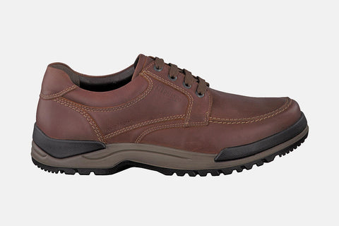 Mephisto Men's Charles 178 Chestnut Grizzly waterproof hiking shoe side view