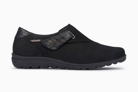 Mephisto Mobil's women's Clarisse slip on loafer with removable cork insole side view