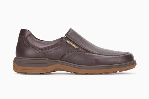 Mephisto Men's Davy Dark Brown Water Proof Slip-On Loafer Side View