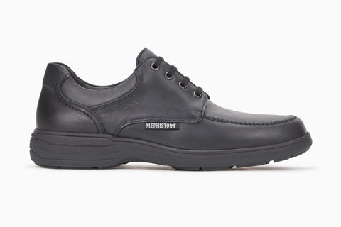 Mephisto Men's Douk Water Resistant Black Casual Dress Lace Up Side View