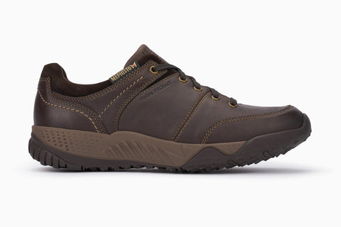 Mephisto Men's Fabiano waterproof walking shoe dark brown side view