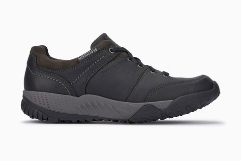 Mephisto Men's Fabiano waterproof walking shoe black side view