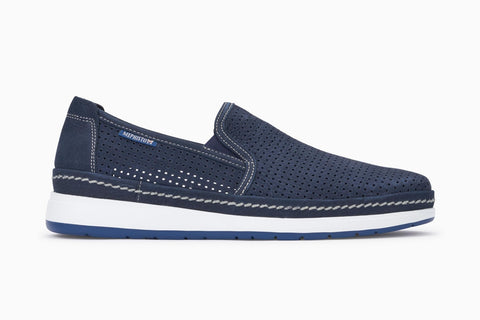 Mephisto Men's Hadrian Slip On Loafer Navy Sportbuck Side View