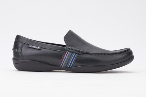 886e1d3d8c808f Mephisto Men's Idris Black Winchester 16700 casual dress slip on loafer  side view