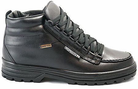 Mephisto Men's Sierra Black 384 lace up hiking boot side view
