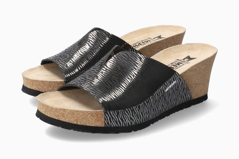 Lisane Wedge Sandals Black Zebra