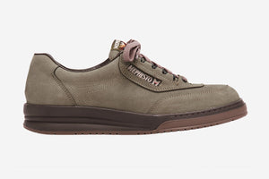 Mephisto Men's Match Birch Nubuck 886 lace-up walking shoe with speed lacing side view