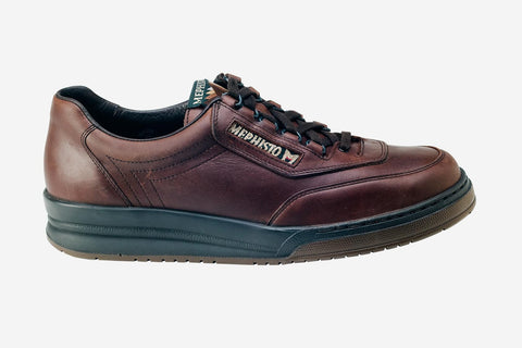 f92a1e0180 Mephisto Men's Match Dark Brown 10951 lace-up walking shoe with speed  lacing side view