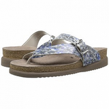 Mephisto Women's Helen Light Grey 38005 cork foot-bed buckle slide sandal side multi view