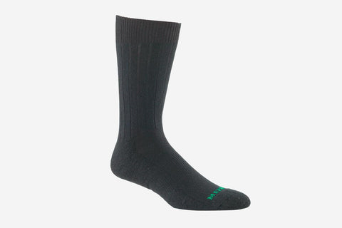 Mephisto Men's NYC Black merino wool mid calf sock profile view