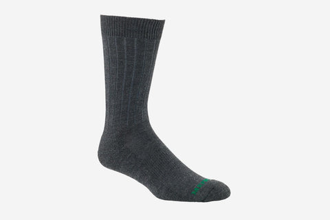 Mephisto Men's NYC Charcoal merino wool mid calf sock profile view