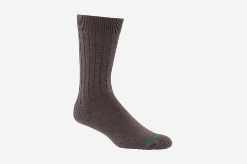 Mephisto Men's NYC Brown merino wool mid calf sock profile view