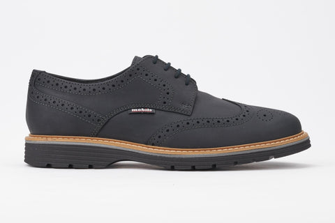 Mephisto Men's Mobils Oswald Black 6600 wing tip casual dress oxford with removable insole side view