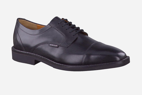Mephisto Men's Poley Black Supreme 7300 cap toe dress oxford side view