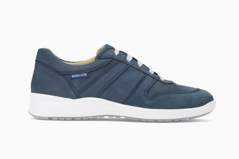 Mephisto Women's Rebeca Perf Navy Walking Shoe Side View