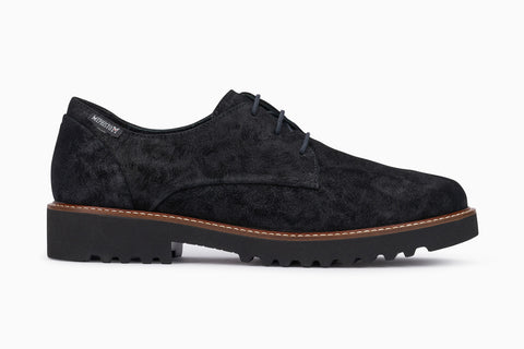 Mephisto women's Sabatina lace up oxford black lido side view