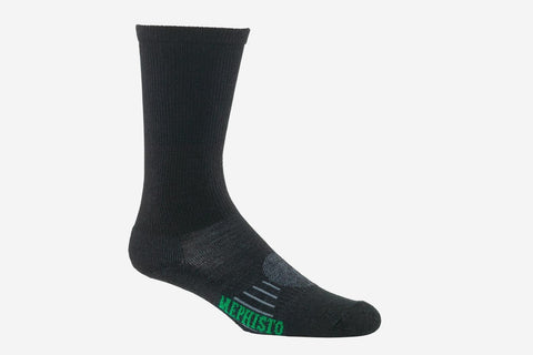 Mephisto Men's Seattle Merino Wool Sock Bark mid calf profile view