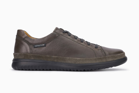 Mephisto men's Thomas lace up walking shoe graphite side view